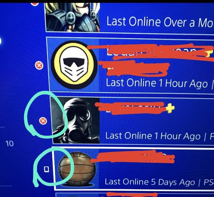 Screenshot I Know That The X Symbol Means Their Offline But What