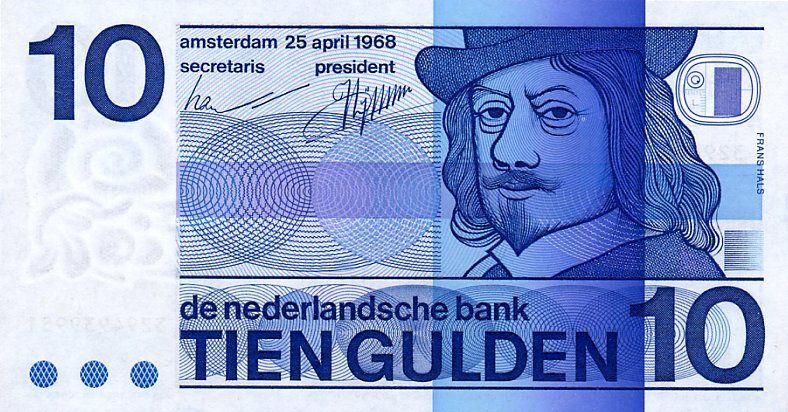 Photo of 10 Gulden Niederlande, 1970-1990, Frans Hals, Maler (niederländischer Meister).