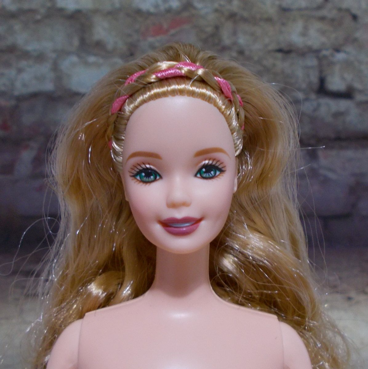 Blonde barbie and pale skin
