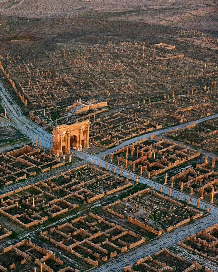 Timgad, an ancient Roman city (located in Algeria) in 2020