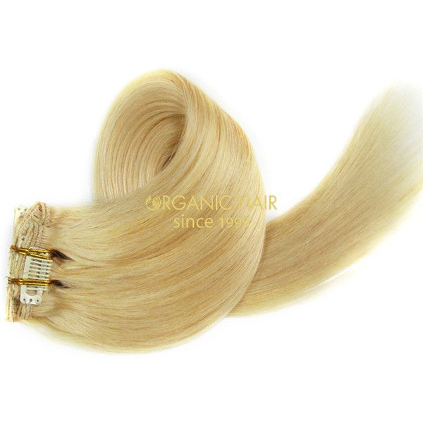 Wholesale Remy Hair Blonde Clip In Hair Extensions 613 Hair