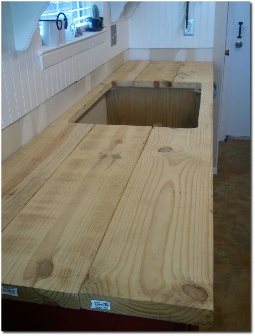 Pin by mat melton on inspiring ideas diy wood counters - Butcher block countertops in bathroom ...