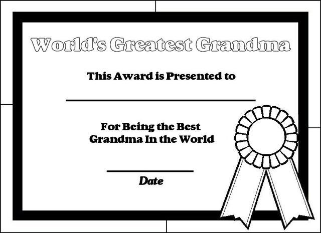 Kidsu0027 Crafts Printable certificates, Certificate and Holiday - best of happy birthday nana coloring pages