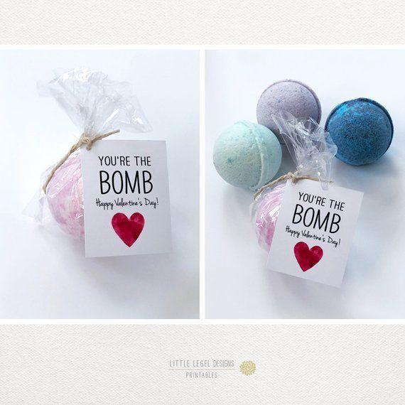 Photo of Valentine Gift tag – Valentine's Printables – Bath Bomb gift tag – Red & Black. DIY