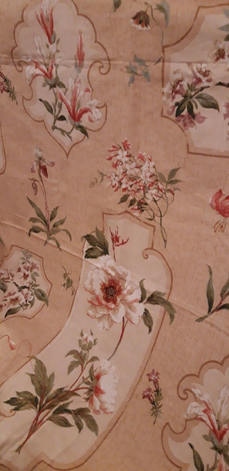 Colefax and fowler Peony Cartouche fabric L57 x W56 inches