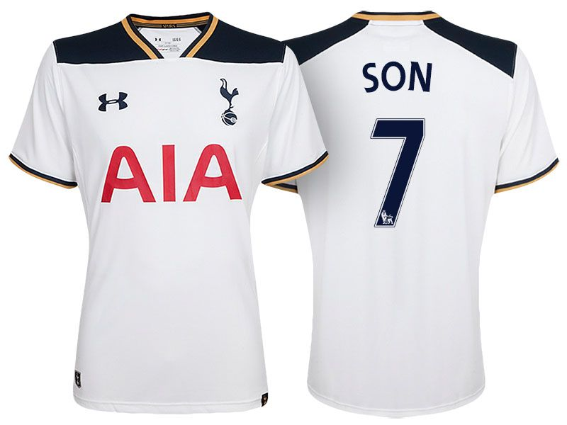 buy popular 6ed8f afb78 Tottenham Hotspur #7 Son Heung-min 2016-17 Home Jersey ...