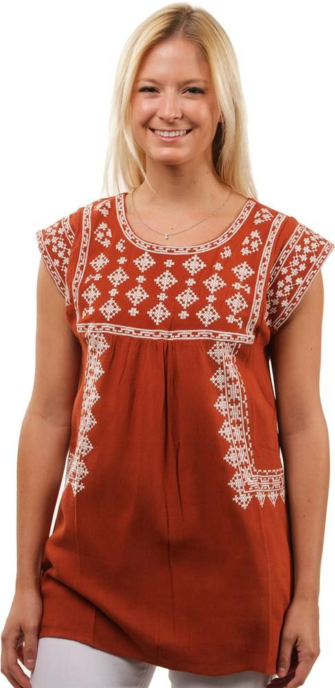 Ladies Geometric Embroidered Tunic | University Co-op