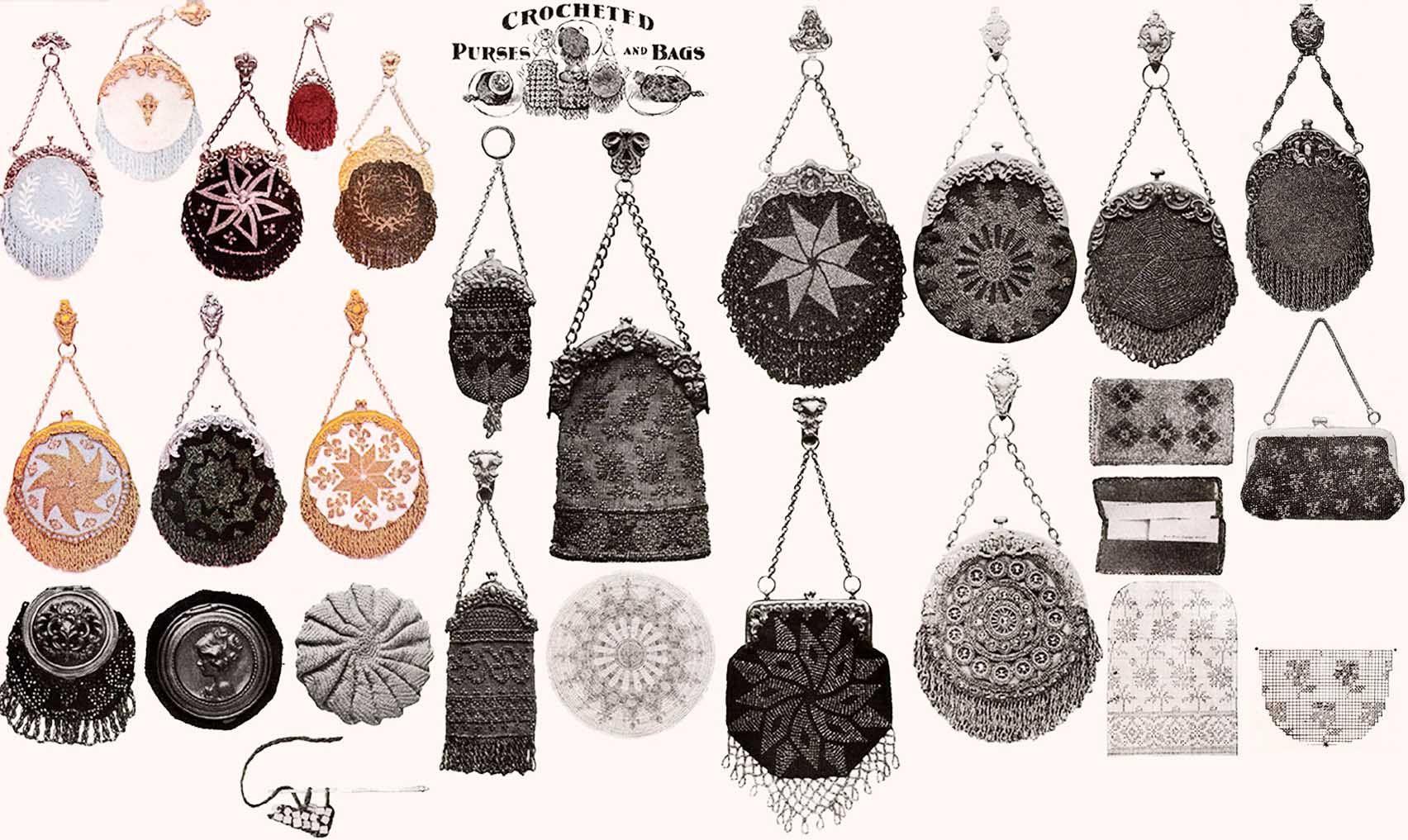Victorian Edwardian Beaded Purse Reticule Patterns 1902