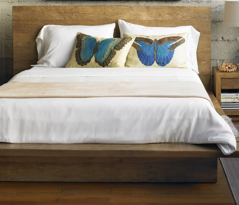 Diy wood platform bed frame vintage fir platform bed in light finish from viva terra  for the