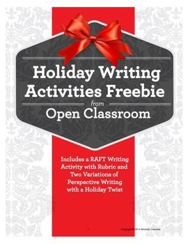 Enjoy This Free Holiday Raft Writing Activity Or Letter Writing