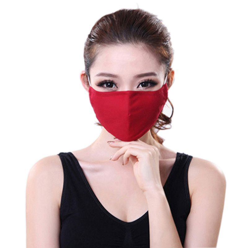 c46bfb16c Cotton PM2.5 Anti Haze mouth Mask anti dust mask Activated carbon filter  Windproof Mouth-muffle bacteria proof Flu Face masks