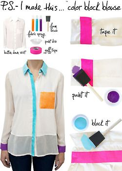 P.S. - I made this - color block blouse