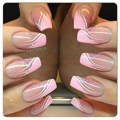 Photo of French Nails Nude Square Lace White Triangle Long Elegant Bridal Nail Ring Nails #Nail – Nail