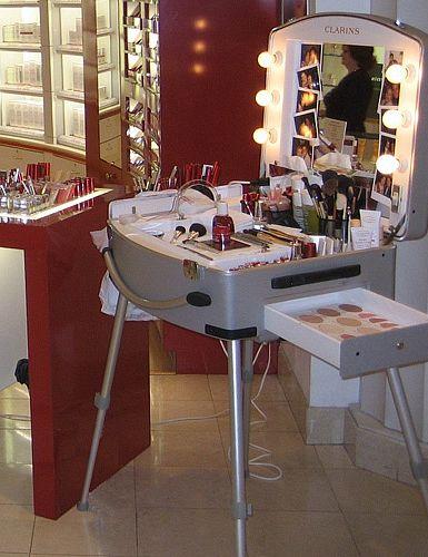 clarins glam room portable makeup station makeup