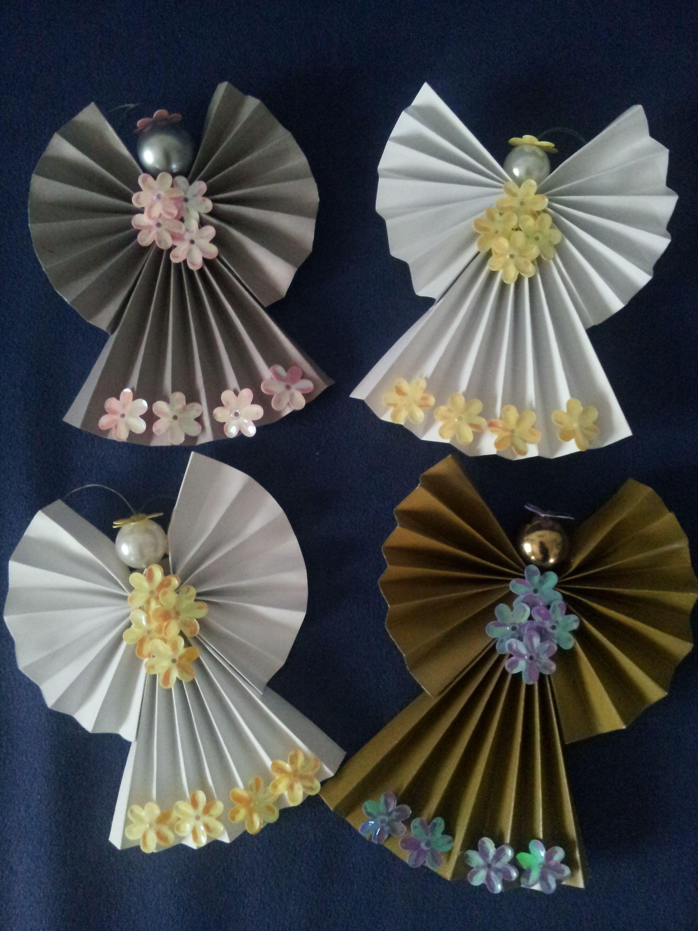 DIY Paper Angel Karácsonyi kreatív projektek, Kézműves