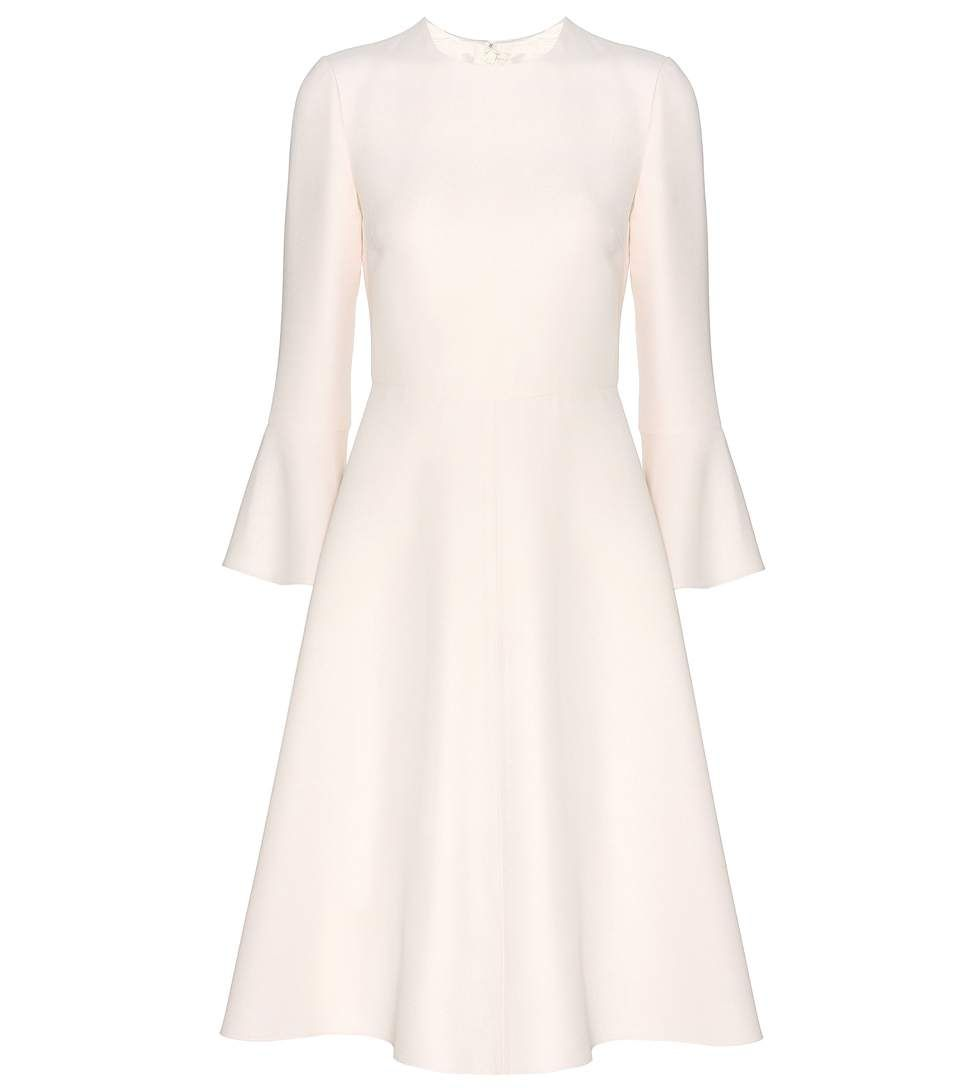 Valentino Virgin Wool And Silk Dress Cloth Dresses