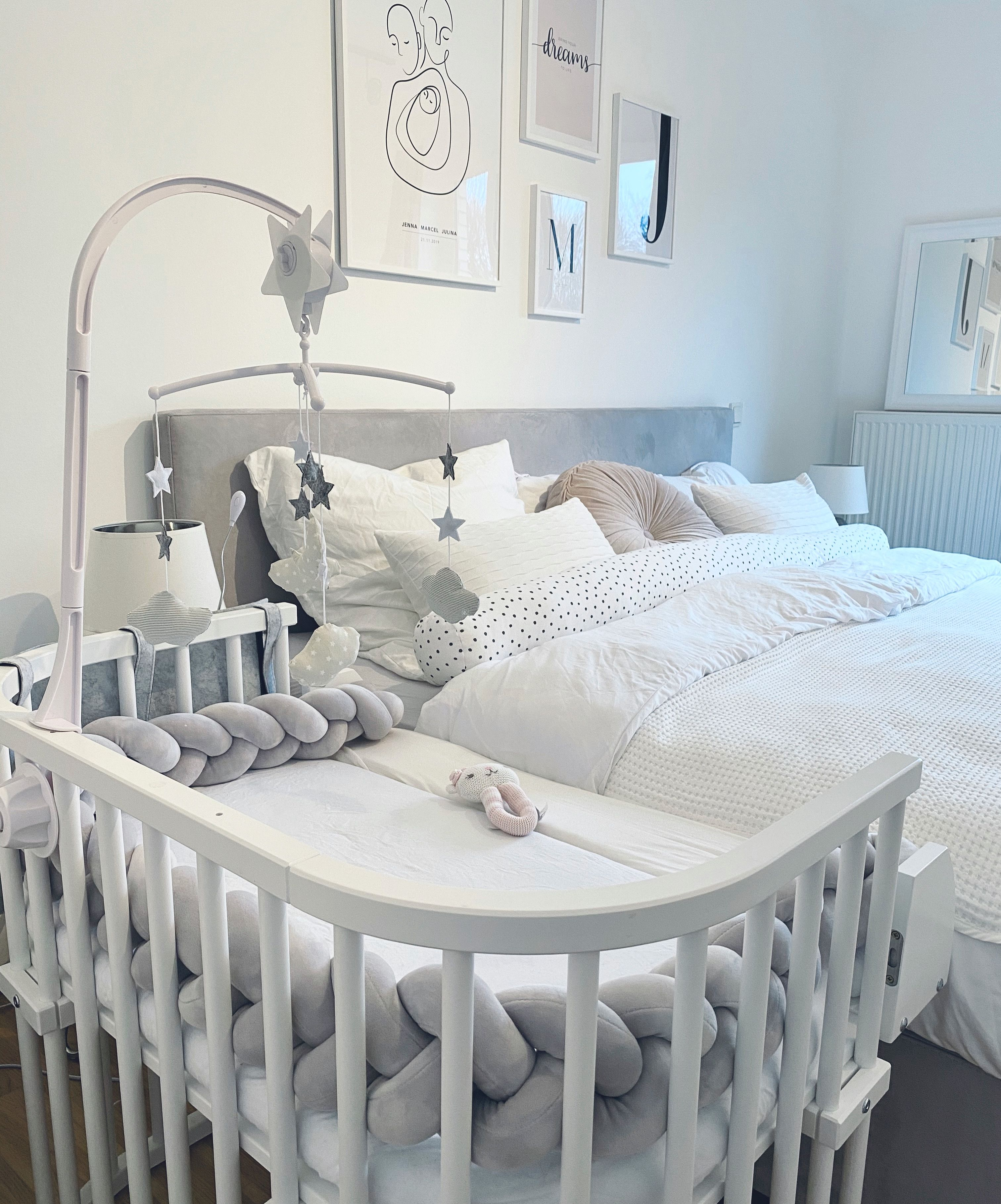Bedroom With Baby Bed In 2020 Baby Boy Room Nursery Cozy Baby Room Baby Bed
