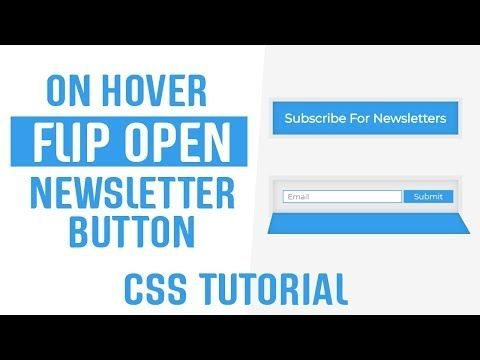 Flip Open On Hover Newsletter Button CSS | CSS Buttons | CSS