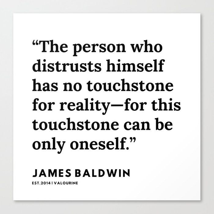 73    |James Baldwin Quotes |  200626 | Black Writers | Motivation Quotes For Life Canvas Print by Quotes And Sayings