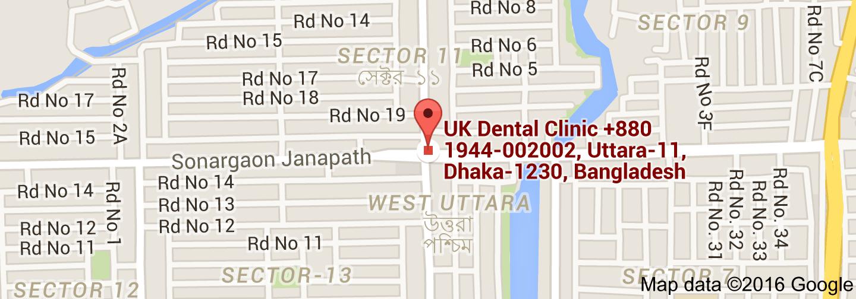 Map of UK Dental Clinic, Uttara-11, Dhaka-1230, Bangladesh | UK ...