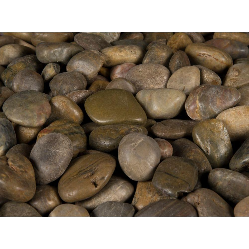 Msi 0 5 Cu Ft 3 Cm To 5 Cm Imperial Beach River Rock Approx 40 Lbs Bag 24 Cu Ft 42 Bags Pall In 2020 Landscaping With Rocks River Rock Mexican Beach Pebbles