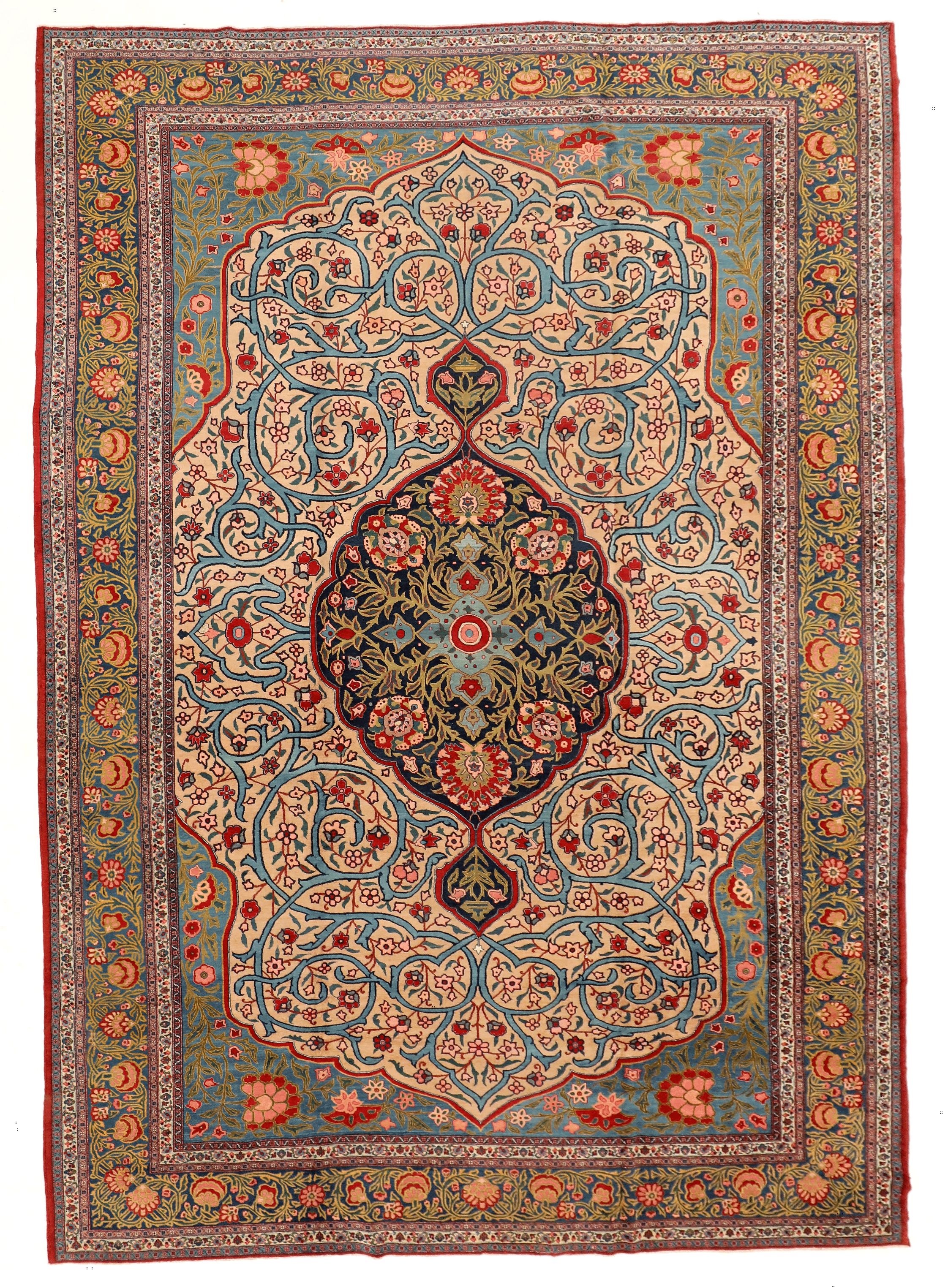 Antique Khoy Persian Carpet In Blue Red And Green Circa 1920 In 2020 Persian Carpet Rugs On Carpet Antiques