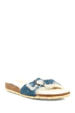 3626afb0a2f Madrid Genuine Lamb Fur Lined Sandal - Narrow Width Available ...