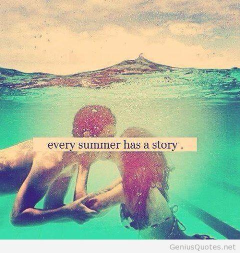 Elegant Summer Story Quote Wallpaper