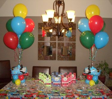 Thomas Kids Birthday Party Balloon Decorations Celebrate Any Day Everyday Pinterest