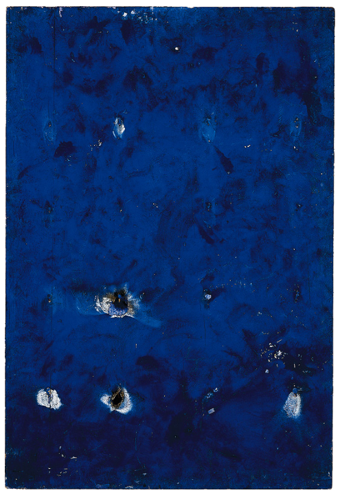 yves klein tableau de feu bleu d une minute m 41 1957. Black Bedroom Furniture Sets. Home Design Ideas