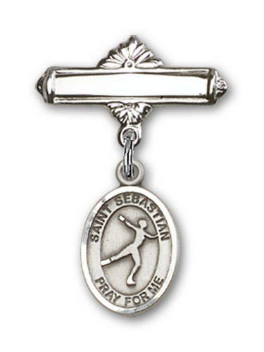 IceCarats Designer Jewelry Sterling Silver St SebastianFigure Skating Charm Badge Pin 1 X 58 >>> Click image for more details.