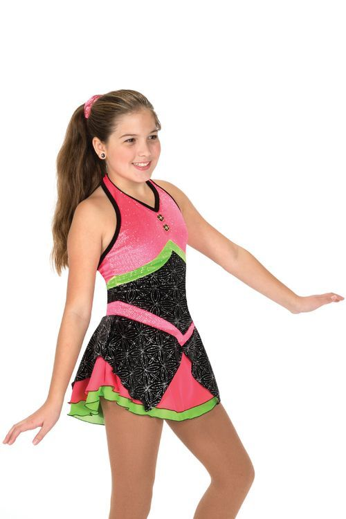 Jerrys Figure Skating Dress #57 - Neon Nights Figure Skating Dress