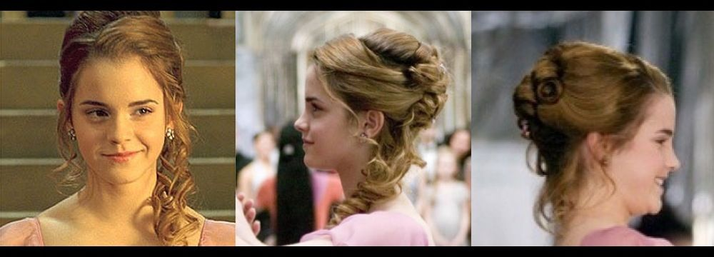 Hermione's Yule Ball hair. Prom?