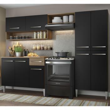 Cozinha Compacta Madesa Emilly Com Armario E Balcao Magazine
