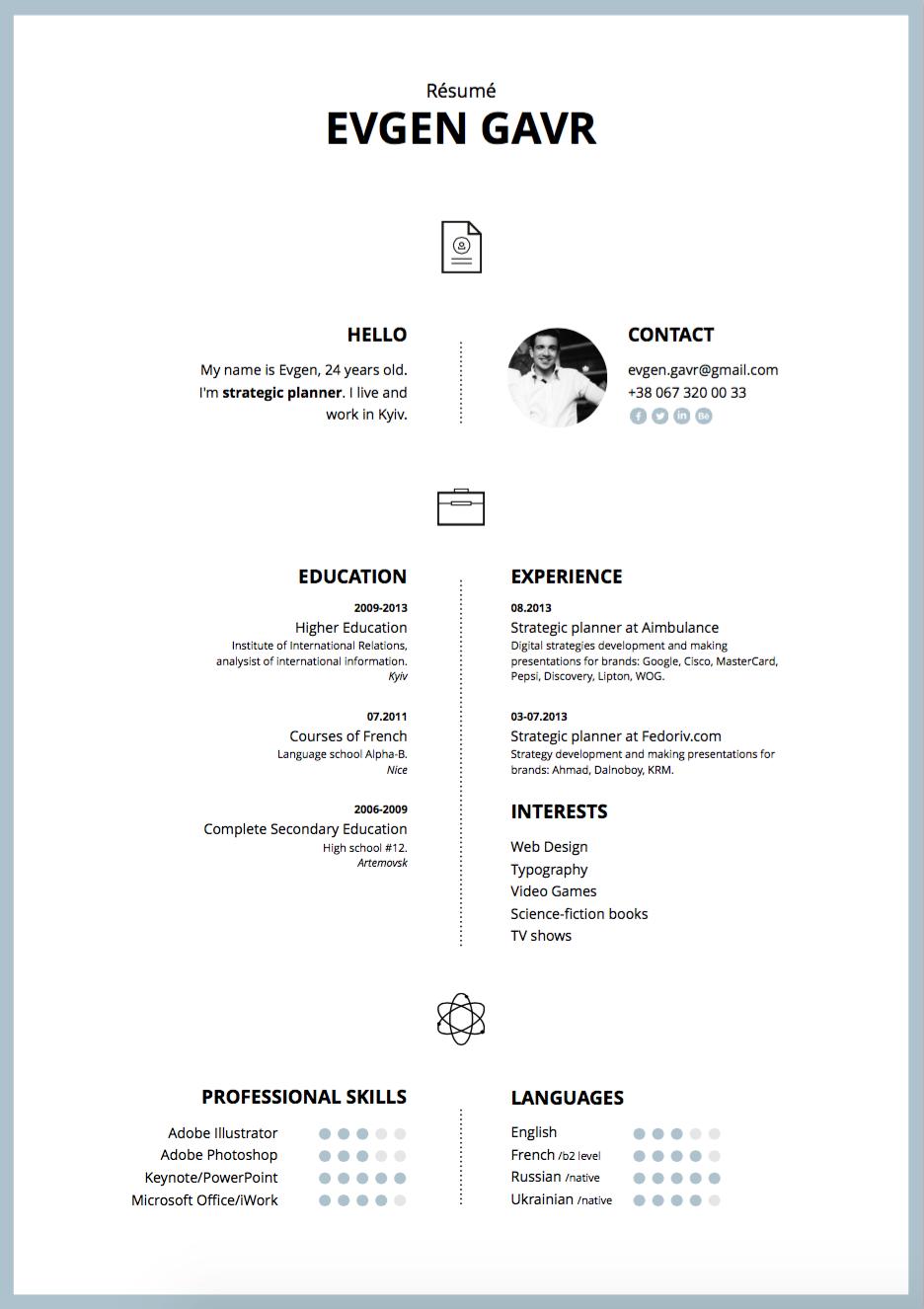 Keynote Job resume template, Resume templates, Resume