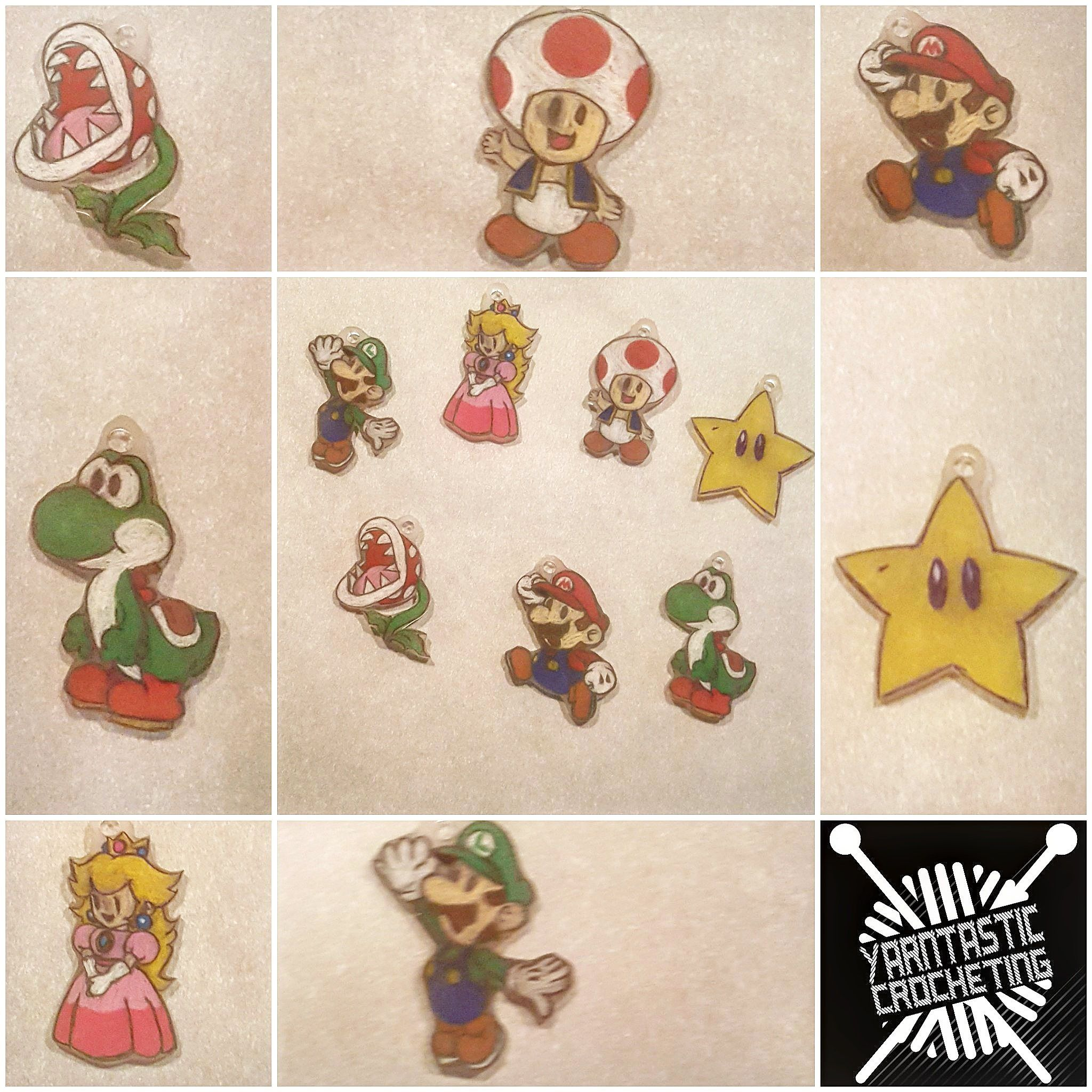 Mario stitch markers by Yarntasticcrocheting on Etsy