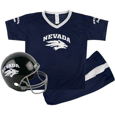 Nevada Wolf Pack Kids Youth Football Helmet And Uniform Set Sport Outfits Sports Shops Football Helmets