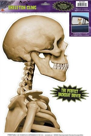 Skeleton Car Cling We have this on our vanThe kids love it - halloween decorations for your car