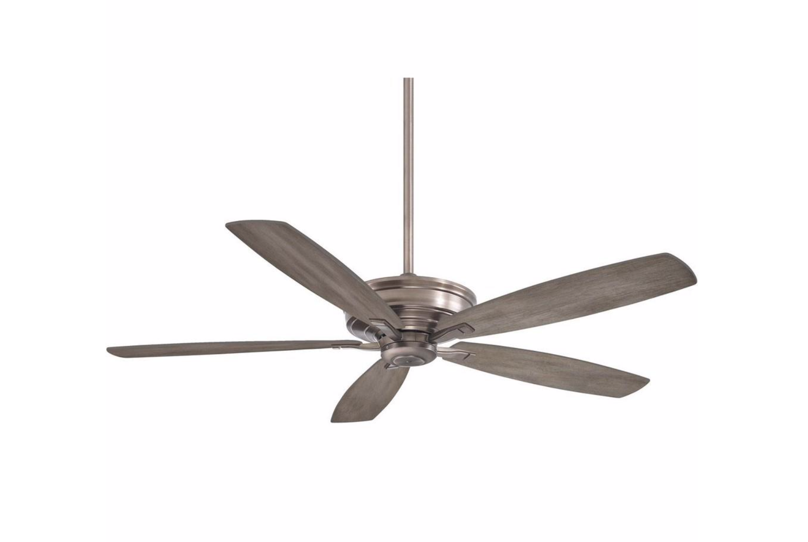 Hunter Antero 54 In Led Indoor Brushed Nickel Ceiling Fan With Light 59183 The Home Depot Ceiling Fan With Light Fan Light Brushed Nickel Ceiling Fan
