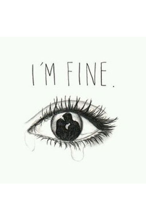 Heartbroken Cry Eye Draw : heartbroken, ROMANTIC, QUOTES