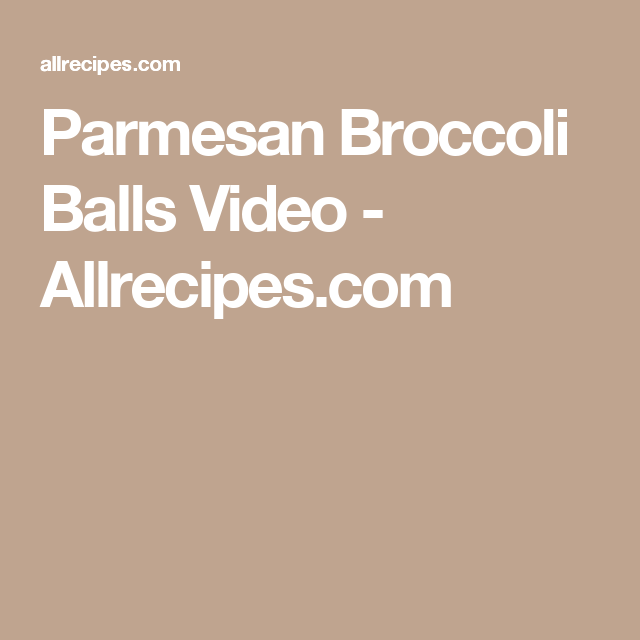 recipe: broccoli balls pinterest [17]