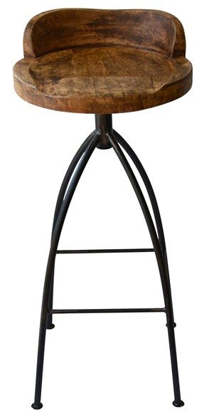 Boyd Blue Hinkley Swivelling Bar Stool Rustic Industrial The Bar