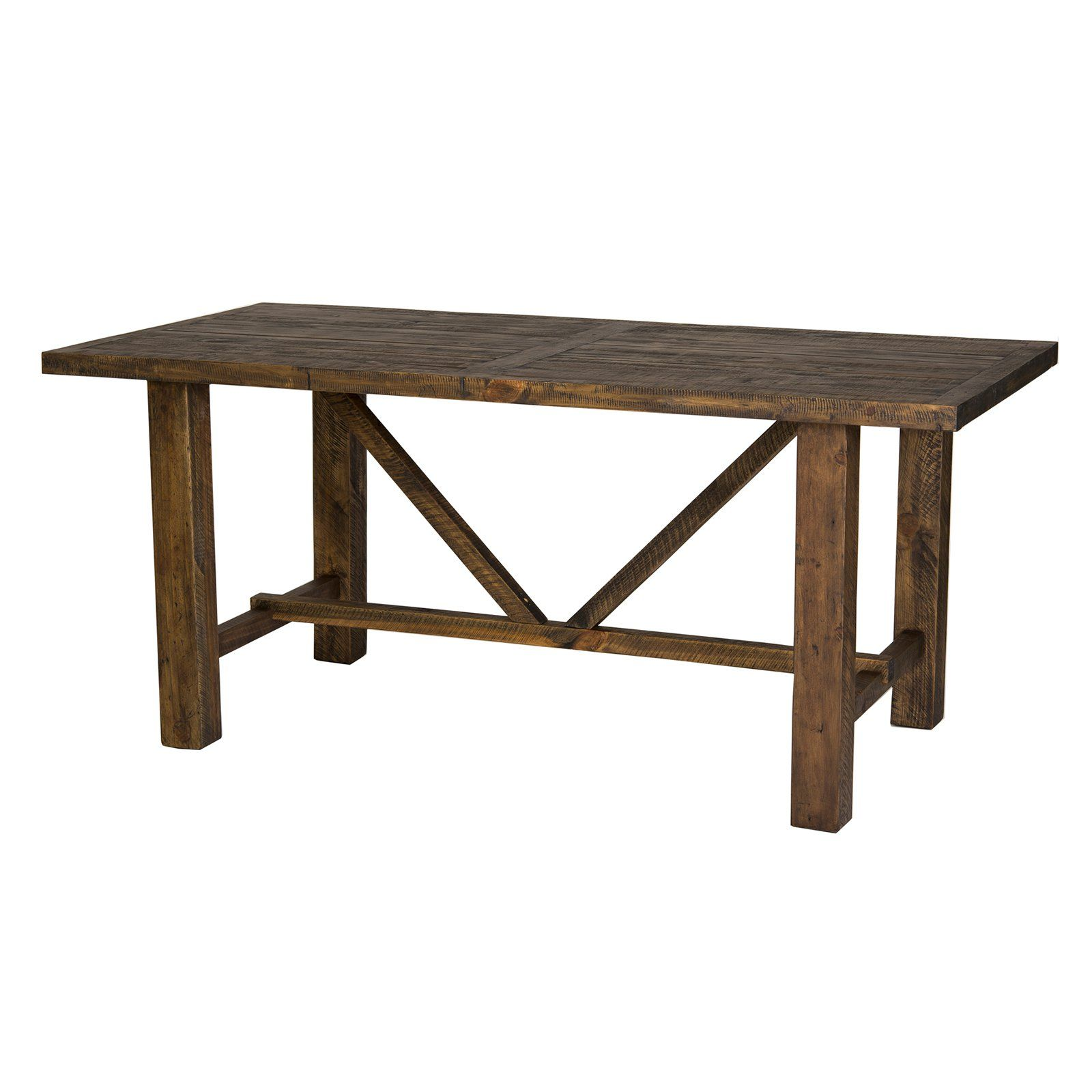 Stupendous Farmhouse Trestle Dining Table From Hayneedle Com For Dailytribune Chair Design For Home Dailytribuneorg