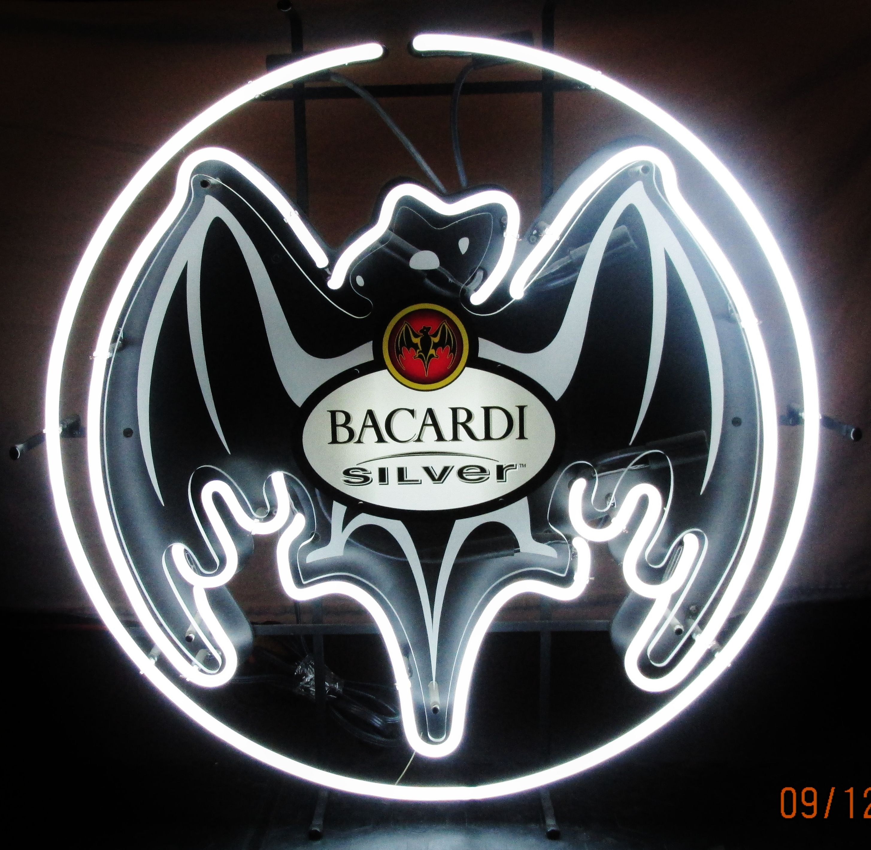 BACARDI SILVER Neon Bar Sign, circa 1997