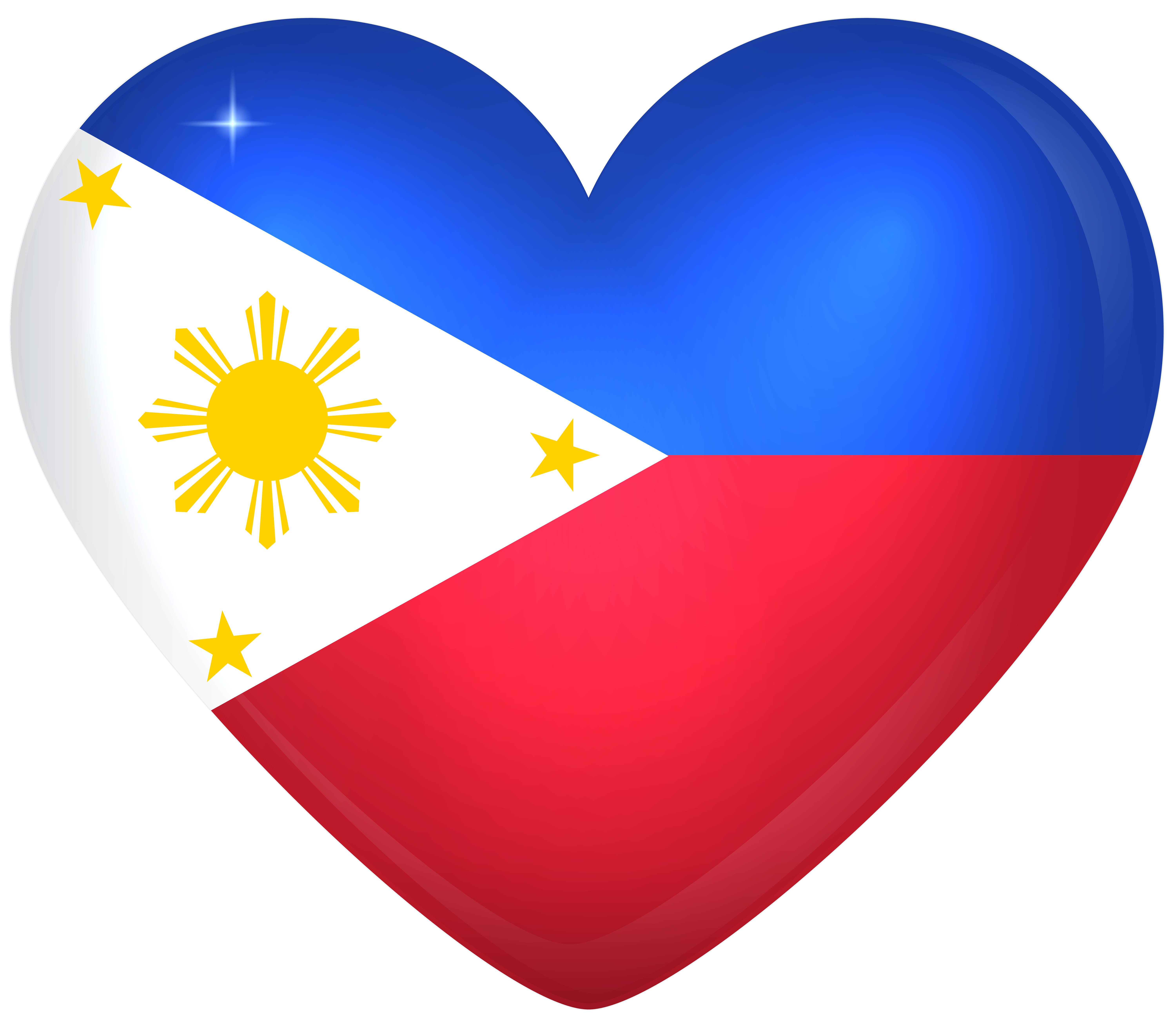 Philippines Large Heart Flag Gallery Yopriceville High