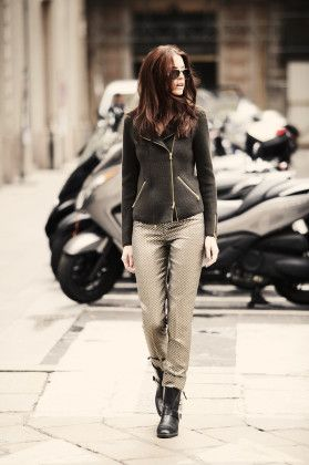 Thyra, biker jacket, 100% cashmere, made in Italy, BARBARA LOHMANN AW14
