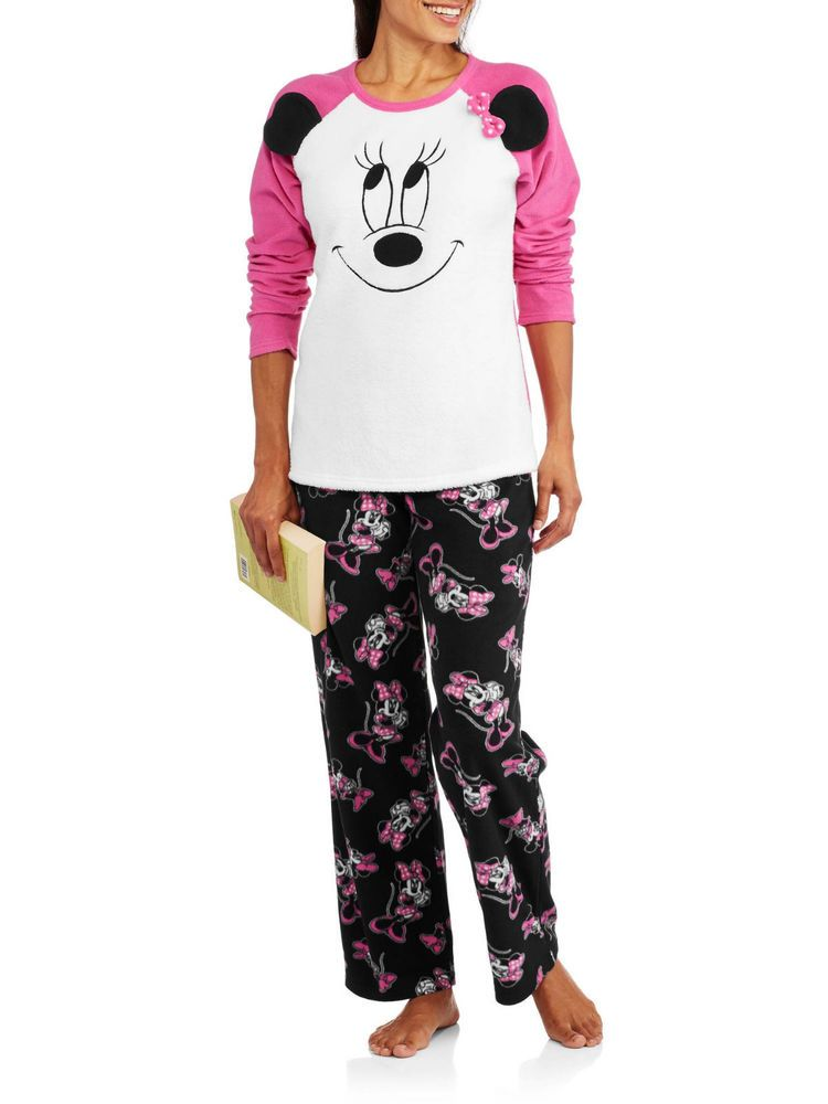 2be7502199d DISNEY Minnie Women s Pajama Set Sleep Shirt Pants Minky Fleece Size XL   Disney  PajamaSets  Everyday