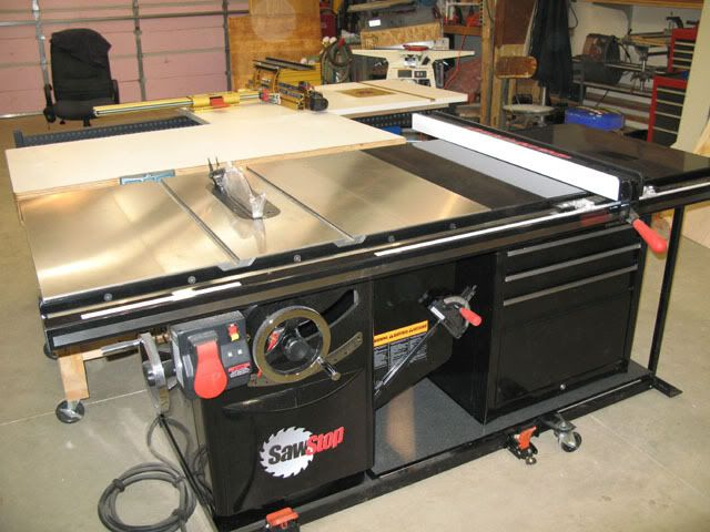 Cabinet Underneath Mobile Pm66 Table Woodworking Table Saw Cabinet Table Saw Table Saw Workbench