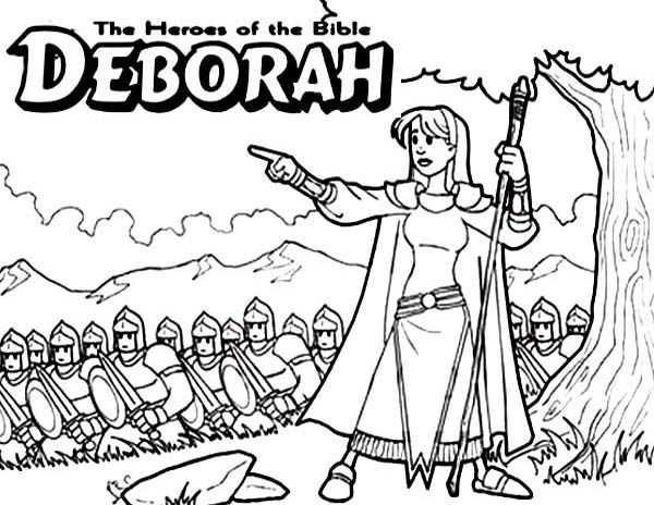 Http Coloringtoolkit Com Deborah The Bible Heroes Coloring