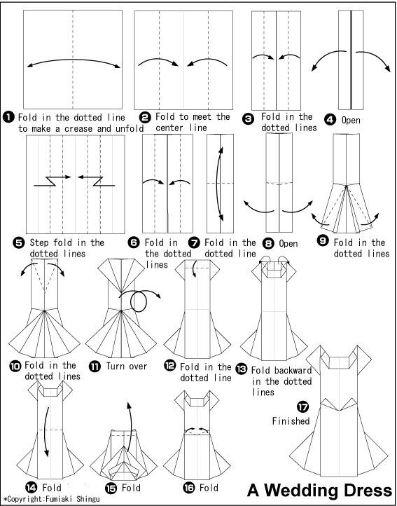 Image Result For Simple Origami Dress Step By Step Instructions